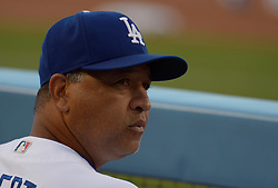 June 10, 2017 - Los Angeles, California, U.S. - Los Angeles Dodgers manager Dave Roberts in the second inning of a Major League baseball game against the Cincinnati Reds at Dodger Stadium on Saturday, June 10, 2017 in Los Angeles. (Photo by Keith Birmingham, Pasadena Star-News/SCNG) (Credit Image: © San Gabriel Valley Tribune via ZUMA Wire)