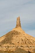 View of Chimney Rock, near Bayard, Nebraska; Chimney Rock National Historic Site.