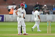 James Hildreth of Somerset batting during the Specsavers County Champ Div 1 match between Somerset County Cricket Club and Worcestershire County Cricket Club at the Cooper Associates County Ground, Taunton, United Kingdom on 22 April 2018. Picture by Graham Hunt.