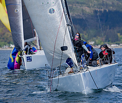 Pelle P Kip Regatta 2019 Day 1<br /> <br /> Light and bright conditions for the opening racing on the Clyde keelboat season<br /> SWE18325, Wild Haggis, Ewan and Jackie Mackay, Loch Lomond SC, Farr 30