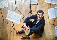 """March 01, 2012: Portrait of the British Choirmaster and broadcaster Gareth Malone in London. Gareth has won two BAFTA awards to date for his show """"The Choir""""."""