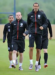 19.05.2010, Arena, Irdning, AUT, FIFA Worldcup Vorbereitung, Training England, im Bild Wayne Rooney, Rio Ferdinand, EXPA Pictures © 2010, PhotoCredit: EXPA/ S. Zangrando / SPORTIDA PHOTO AGENCY