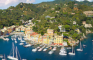 Portofino . fashionable seaside fishing village for the wealthy .  Ligurian Coast. Italy .<br /> <br /> Visit our ITALY HISTORIC PLACES PHOTO COLLECTION for more   photos of Italy to download or buy as prints https://funkystock.photoshelter.com/gallery-collection/2b-Pictures-Images-of-Italy-Photos-of-Italian-Historic-Landmark-Sites/C0000qxA2zGFjd_k