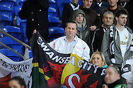 Dissapointed Swansea City fans at full time <br /> Barclays Premier League match, Cardiff city v Swansea city at the Cardiff city stadium in Cardiff, South Wales on Sunday 3rd Nov 2013. pic by Phil Rees, Andrew Orchard sports photography,