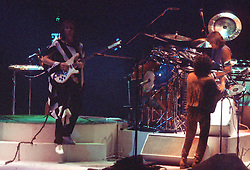 """Yes Performing Live in Concert """"In The Round"""" at the New Haven Coliseum Connecticut on 4 September 1978. Band Members this Tour: Jon Anderson, Steve Howe, Chris Squire, Alan White & Rick Wakeman"""