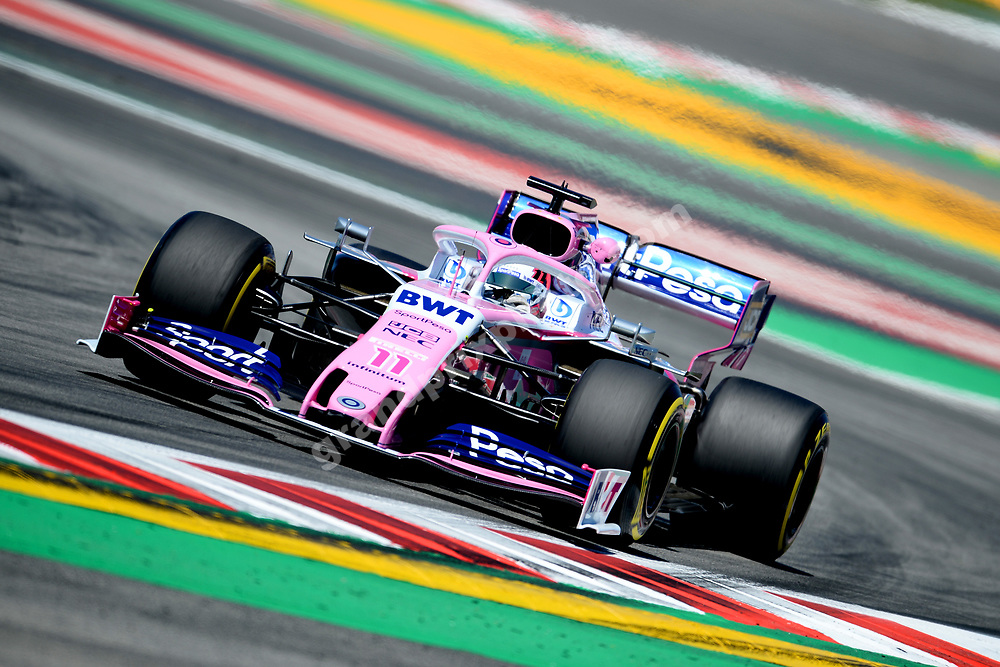 Sergio Perez (Racing Point-Mercedes) during practice before the 2019 Spanish Grand Prix at the Circuit de Barcelona-Catalunya. Photo: Grand Prix Photo