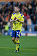Seamus Coleman of Everton looking dejected after the final whistle. Premier League match, Burnley v Everton at Turf Moor in Burnley , Lancs on Saturday 22nd October 2016.<br /> pic by Chris Stading, Andrew Orchard sports photography.