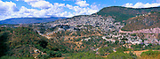 MEXICO, COLONIAL, TAXCO skyline with Santa Prisa Cathedral