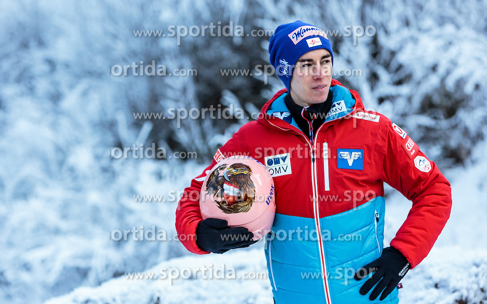 02.01.2017, Seefeld, AUT, FIS Weltcup Ski Sprung, Vierschanzentournee, Innsbruck, im Bild v.l.: Stefan Kraft (AUT) und Michael Hayboeck (AUT) während eines Medientermins des ÖSV // f.l.: Stefan Kraft of Austria and Michael Hayboeck of Austria during a Media Event of the Austrian Skijumping Team before the 3rd Stage Insbruck of the Four Hills Tournament of FIS Ski Jumping World Cup at Seefeld, Austria on 2017/01/02. EXPA Pictures © 2017, PhotoCredit: EXPA/ JFK