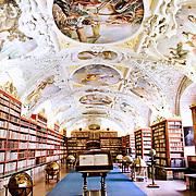 Prague's historic Strahov Library at the Stahov Monastery.