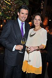 EDWARD TAYLOR and SARAH LANGFORD at a party to celebrate the launch of Carol Woolton's book 'Drawing Jewels For Fashion' held at Asprey, 167 New Bond Street, London W1 on 10th November 2011.