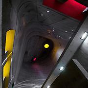 Firminy-Vert, France, Alvernia Rodano Alpi: Interior view of the Saint Pierre Church - Le Corbusier arch - Photographs by Alejandro Sala