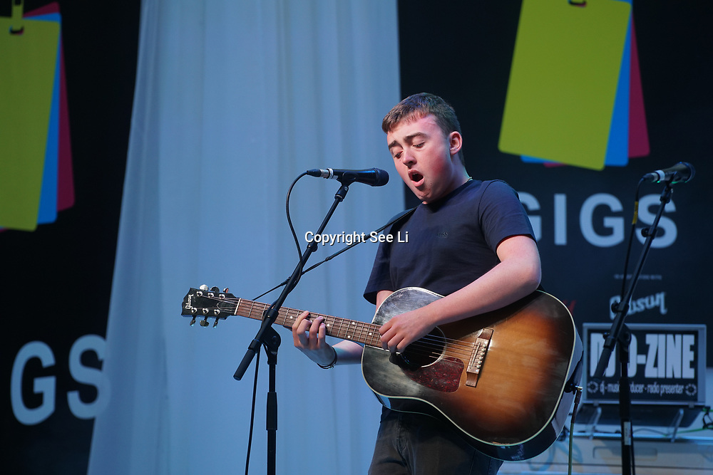 London, UK. 3rd September 2017. Finalist Jamie Wooding preforms at the Mayor Of London Gigs at Westfield London.