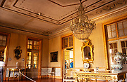 Interior of The National  Palace of Queluz,  Sintra, near Lisbon, Portugal  -  furniture and room decoration