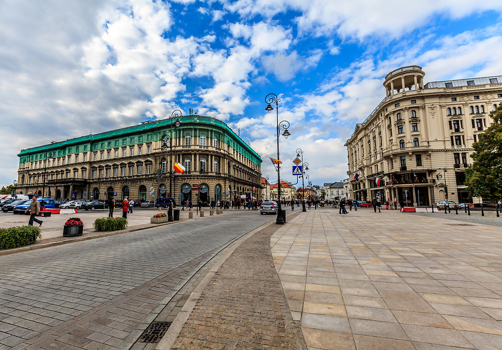 Hotels Europejski and Britol in Warsaw, Poland.