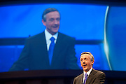 Dr. Robert Jeffress speaks to the congregation during the first service at the new $130 million campus for First Baptist Dallas on Easter Sunday, March 31, 2013. (Cooper Neill/The Dallas Morning News