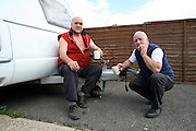Irish Travellers living on the Colne Caravan Park in West Drayton, London
