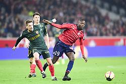 March 15, 2019 - Lille, France, FRANCE - Nicolas Pepe (Losc) vs Perruchet SILVA Adrien  (Credit Image: © Panoramic via ZUMA Press)