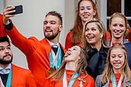 Koning ontvangt medaillewinnaars PyeongChang