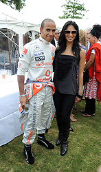 LEWIS HAMILTON and NICOLE SCHERZINGER at the Cartier Style et Luxe, the Goodwood Festival of Speed, West Sussex on 13th July 2008.<br /> <br /> NON EXCLUSIVE - WORLD RIGHTS