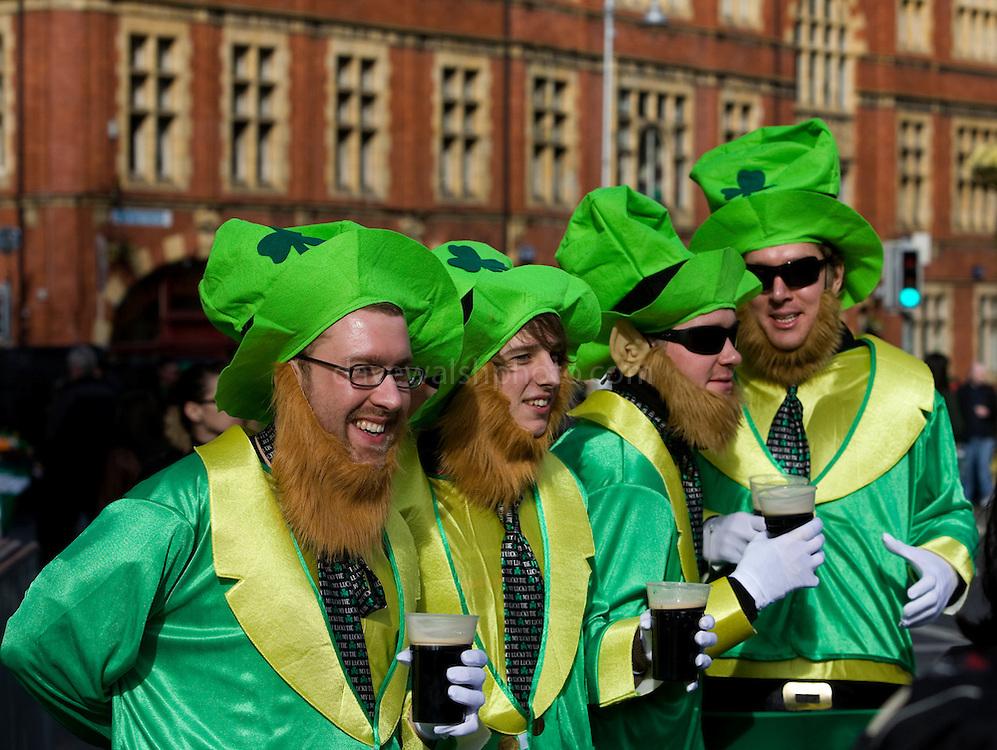 Leprechauns drinking Guinness, Dublin, St. Patrick's Day, 2009