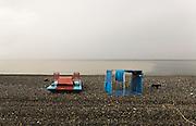 Black sea beach on the border with Turkey