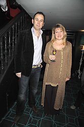 JAMES WINTER and AMANDA ROSS at a dinner to celebrate 30 years of Odette's restaurant, held at Odette's, 130 Regents Park Road, London NW1 on 24th November 2008.