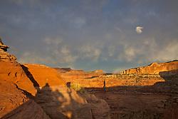 Stormy evening sky, Canyonlands, National Park, Moab, Utah