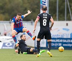 Falkirk's Conrad Balatoni and Inverness Caledonian Thistle's John Baird. Falkirk 0 v 0 Inverness Caledonian Thistle, Scottish Championship game played 14/10/2017 at The Falkirk Stadium.