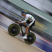 Edward Bissaker, Australia, in action during the Men Omnium, Flying Lap during the 2012 Oceania WHK Track Cycling Championships, Invercargill, New Zealand. 21st November  2011. Photo Tim Clayton