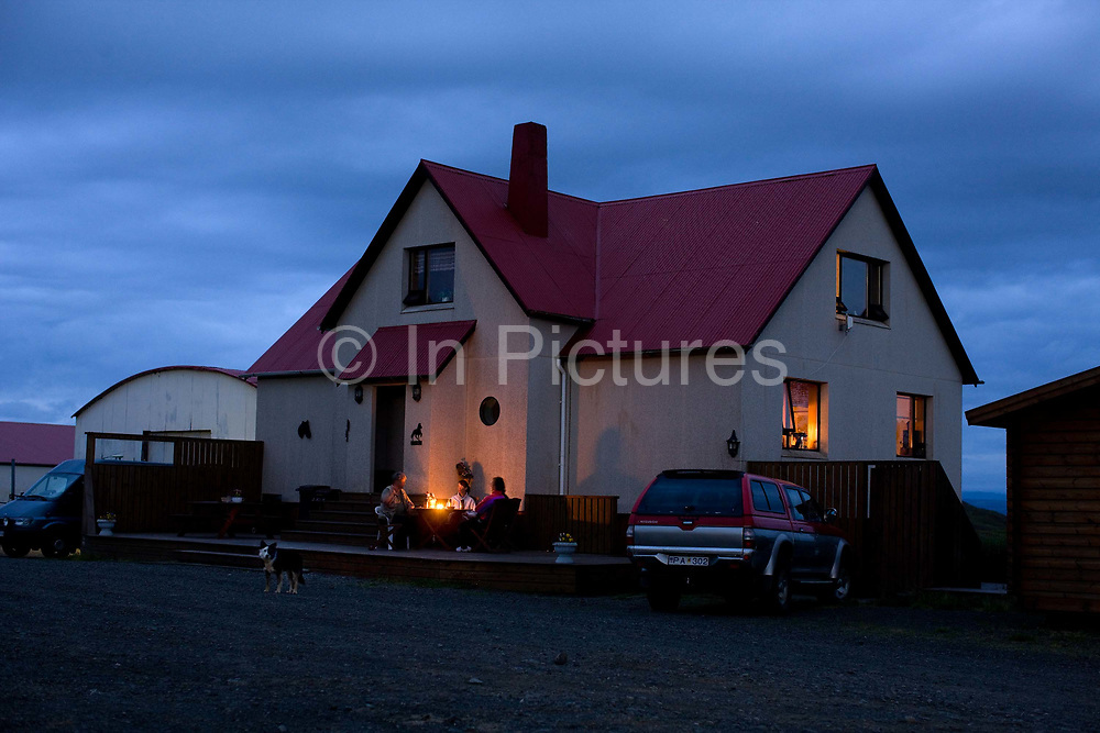 Horse riding in Southern Iceland. <br /> An evening at the Fossnes farm.<br /> A simple farmhouse supper.