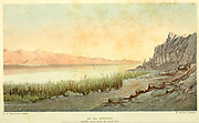 At Ain Feshkhah [Ein Feshkha]. North-West Side of Dead Sea from the book The land of Israel : a journal of travels in Palestine, undertaken with special reference to its physical character by Tristram, H. B. (Henry Baker), 1822-1906 Published in 1865