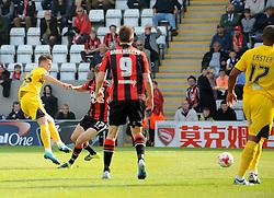 Billy Bodin of Bristol Rovers gets a shot away - Mandatory byline: Neil Brookman/JMP - 07966 386802 - 03/10/2015 - FOOTBALL - Globe Arena - Morecambe, England - Morecambe FC v Bristol Rovers - Sky Bet League Two