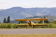Stearman N2S-3 prepping for takeoff.