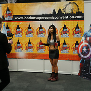 Business Design Centre, England, UK. 23rd August 2017. Island cosplay attend the London Super Comic Convention 2017.