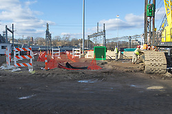 New Haven Rail Yard, Independent Wheel True Facility. CT-DOT Project # 0300-0139, New Haven CT. Progress Photograph of Construction Progress Photo Shoot 7 on 18 January 2012