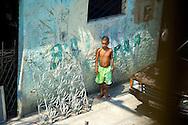 On the streets favelas in Rio de Janeiro
