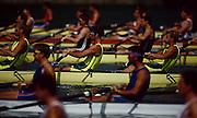 Barcelona,  SPAIN, 1992 Olympic Regatta. AUS M4-, COOPER, Andrew GREEN, Nicholas.MCKAY, Mike, TOMKINS, James, Lake Banyoles, Nr Barcelona SPAIN,  [Photo, Peter Spurrier/Intersport-images]..