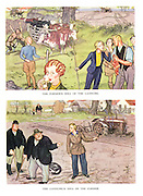 The Farmer's Idea of a Landgirl. The Landgirl's Idea of a Farmer