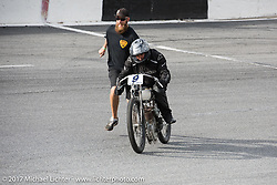 Dan Toce on the track on his 1916 Indian Power Plus at Billy Lane's Sons of Speed vintage motorcycle racing during Biketoberfest. Daytona Beach, FL, USA. Saturday October 21, 2017. Photography ©2017 Michael Lichter.