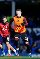 Football - 2019 / 2020 Premier League - Everton vs. Manchester United<br /> <br /> Scott McTominay of Manchester United warms up before the game today, at Goodison Park.<br /> <br /> COLORSPORT/ALAN MARTIN