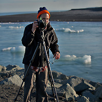 At Jokulsarlon Glacier Lagoon