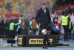 October 9, 2017 - Kiev, Ukraine - Ukraine's coach Andriy Shevchenko is playing with the ballduring during the World Cup Group I qualifying soccer match between Ukraine and Croatia at the Olympic Stadium in Kiev. Ukraine, Monday, October 9, 2017  (Credit Image: © Danil Shamkin/NurPhoto via ZUMA Press)