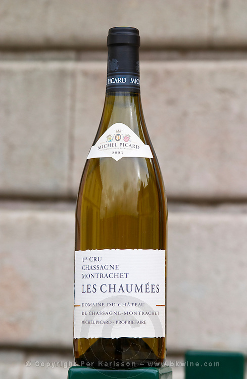 les chaumees 1er cru dom m picard chateau de ch-m chassagne-montrachet cote de beaune burgundy france