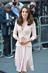 © Licensed to London News Pictures. 04/05/2016. London, UK. Catherine,Duchess of Cambridge arrives at the National Portrait Gallery to attend the Vogue 100: A Century of Style exhibition<br />