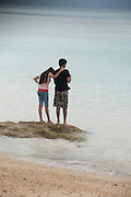 Locals on the Pristine beaches of the Andaman Islands 2014