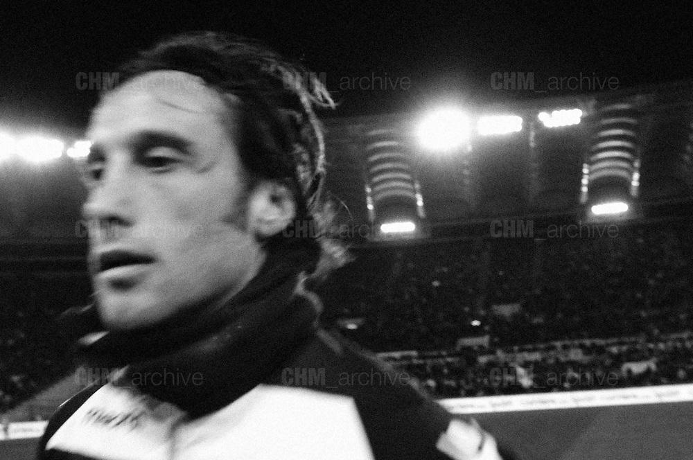 Stefano Mauri durante la partita di campionato Lazio vs Napoli. Stadio Olimpico. 9 febbraio 2013. Christian Mantuano / Oneshot