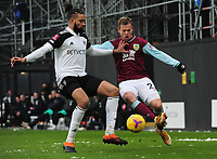Football - 2020 / 2021 Emirates FA Cup - Round Four - Fulham vs Burnley - Craven Cottage<br /> <br /> Matej Vydra of Burnley and Michael Hector of Derby<br /> <br /> COLORSPORT/ANDEW COWIE