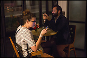 NINA FELLMANN; MANUEL FANELLI, Frieze party, ACE hotel Shoreditch. London. 18 October 2014