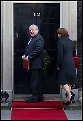 Patrick McLoughlin Secretary of State for Transport with Maria Miller.Secretary of State for Culture, Media and Sport arrives to attend the Government's weekly Cabinet meeting at Number 10 Downing Street No 10 Downing Street, London, UK, December 18, 2012. Photo By Andrew Parsons / i-Images.<br /> Culture Secretary Maria Miller is cleared of fiddling expenses. Picture filed Thursday 3rd April 2014.